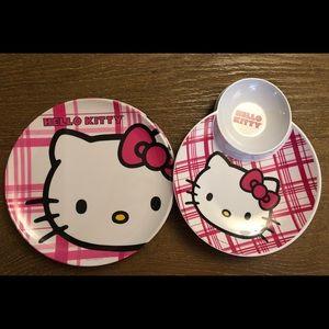 Hello Kitty Zak Plates - Set of 7